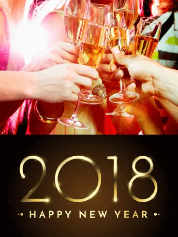 new year 2018 vacation period it s time to celebrate happy new year card 2018