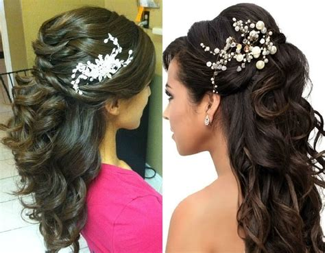 Wedding Hairstyles For Gowns tutorial half up half hairstyle indian