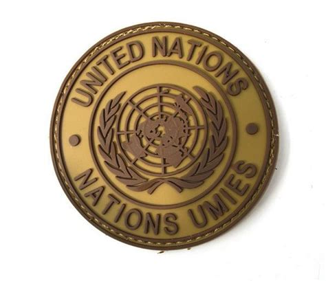 Rubber Patch Un United Nations free shipping the united nations peacekeeping forces 3d
