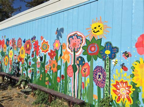 garden wall mural denair students create unique garden and beautiful mural