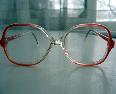 small vintage 80s big eyeglasses frames by century
