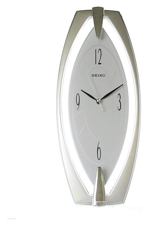 Seiko Silver White seiko silver plastic wall clock white