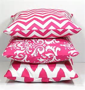 Decorative Pink Pillows pink pillows decorative pillows trio by