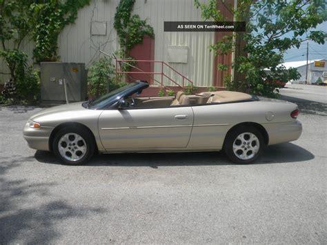 2000 Chrysler Sebring Jxi Convertible by 2000 Chrysler Sebring Jxi Convertible 2 Door 2 5l