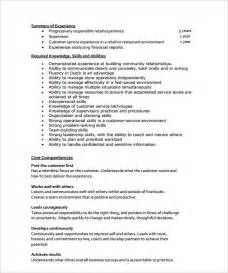 Resume Format For Store Manager by Store Manager Resume 10 Documents In Pdf