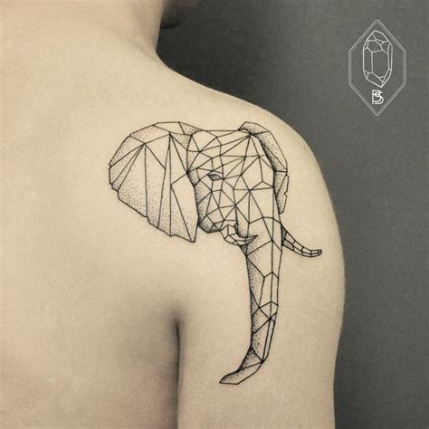 tattoo elephant geometric 25 awesome geometric tattoo art images gallery