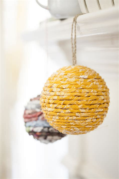 easy ornaments easy diy wrapped ornament offbeat inspired