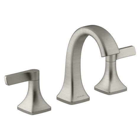 bathroom faucets brushed nickel widespread shop kohler maxton brushed nickel 2 handle widespread bathroom faucet at lowes com
