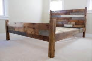 selbstgebaute betten pallet and barn wood bed 101 pallets