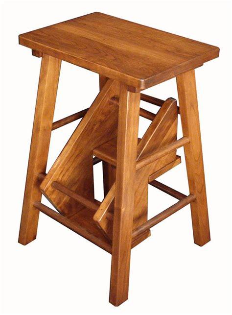 Kitchen Folding Step Stool amish made hardwood kitchen step stools