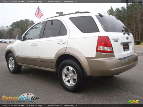 Kia 4x4 Sorento 2006 Kia Sorento Ex 4x4 Clear White Beige Photo 4