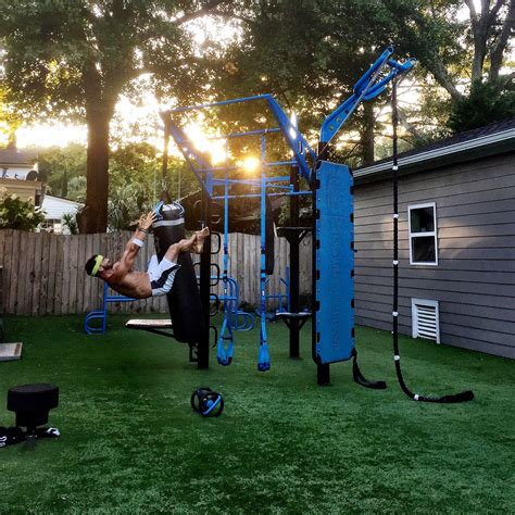 backyard gym ideas backyard gym hanging sit up on heavy bag movestrong t
