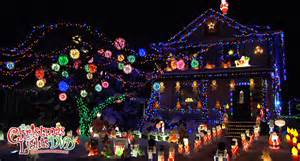 see the christmas lights display of the day from the