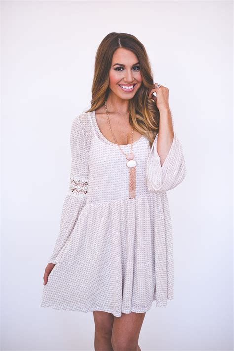 dottie couture boutique taupe bell sleeve tunic dress 48 00 http www dottiecouture