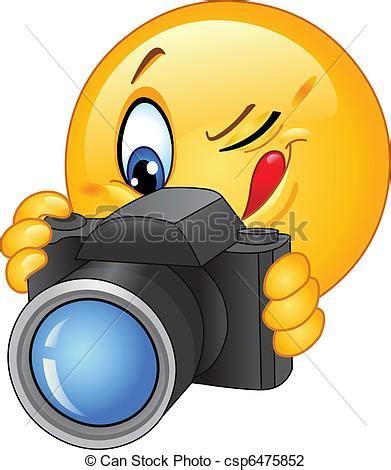 photo clipart illustration vecteur de emoticon appareil photo