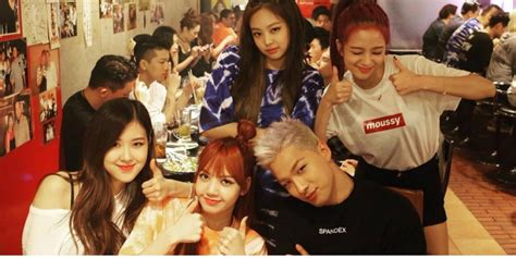 welcome to yg family black pink http instagram com taeyang takes a cute snapshot with black pink members in