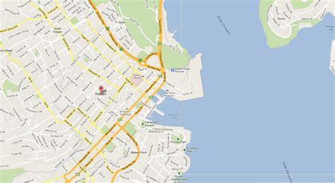 map of hobart city hobart map and hobart satellite image