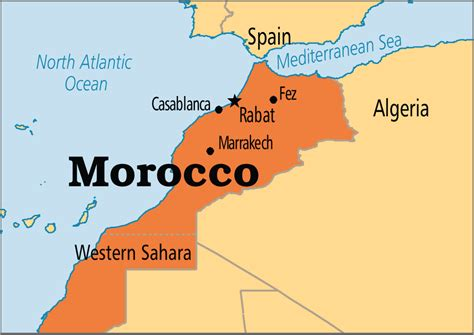 world map of morocco morocco operation world