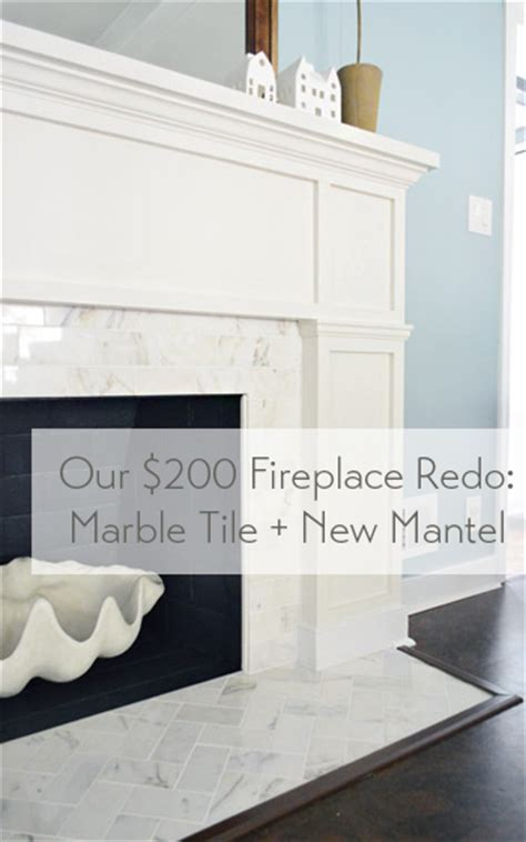 Our $200 Fireplace Makeover (Marble Tile & A New Mantel