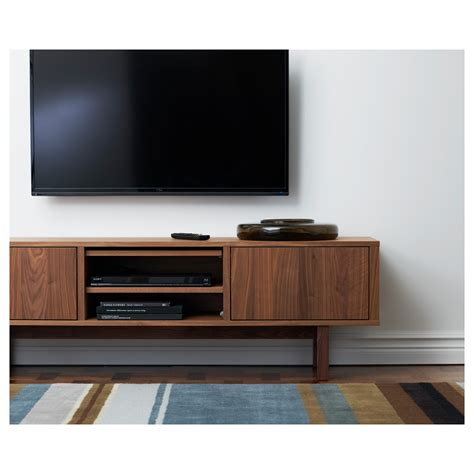 tv bench with storage stockholm tv bench walnut veneer 160x40 cm ikea