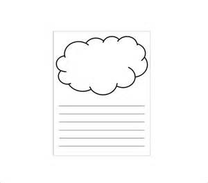 cloud template with lines 9 printable cloud templates free free