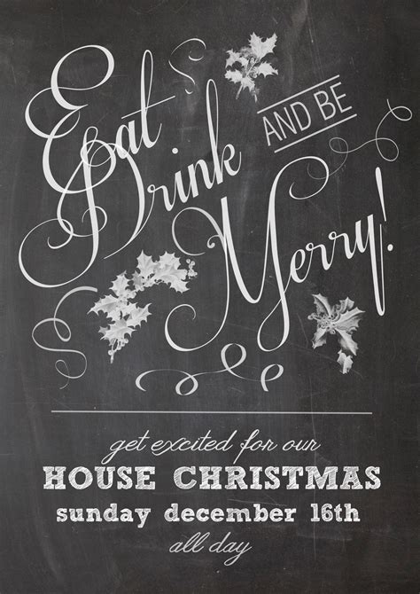 house christmas party poster by sowhitehead on deviantart