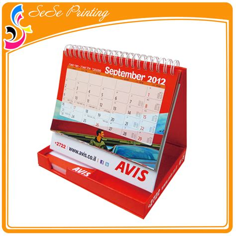 Calendar Paper Customized Printable Paper Desk Calendar With Stand