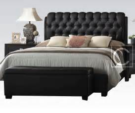 black bed headboard king size button tuff plush headboard black leather bed frame