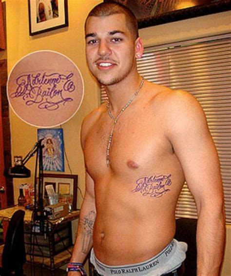 rob kardashian tattoo rob s tattoos make us smile and shake our heads
