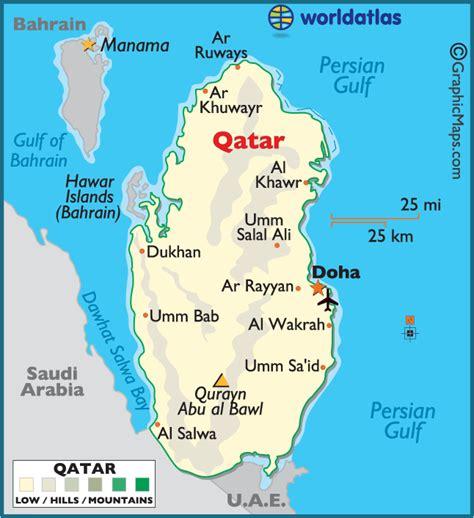 world map image qatar qatar large color map