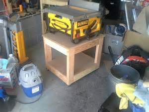 Diy Table Saw Stand by Table Saws Bases The Plans For The Basic 2x4 Workbench To Hold Site Table Saw