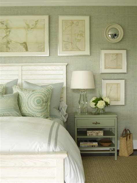 green bedroom love these colors gray pale moss green cream white