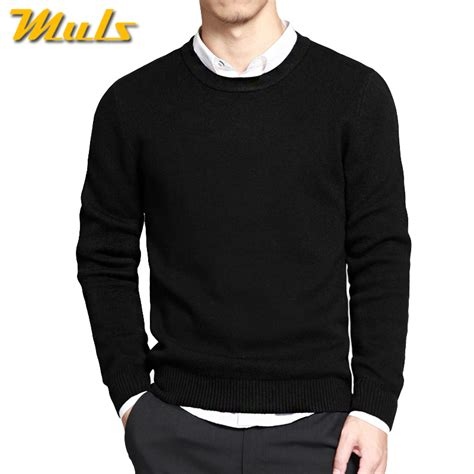 Sweater O Neck Black 1 2017 mens pullover sweaters simple style cotton o neck sweater jumpers autumn thin
