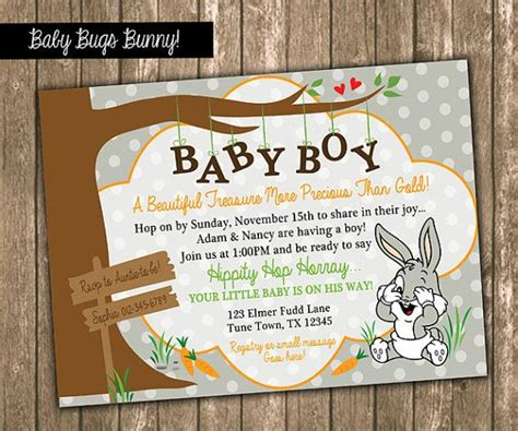 Baby Looney Tunes Baby Shower Invitation Templates Songwol 0bd448403f96 Looney Tunes Invitations Templates
