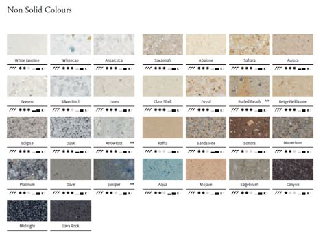 corian countertop color chart pictures to pin on - Corian Farbpalette