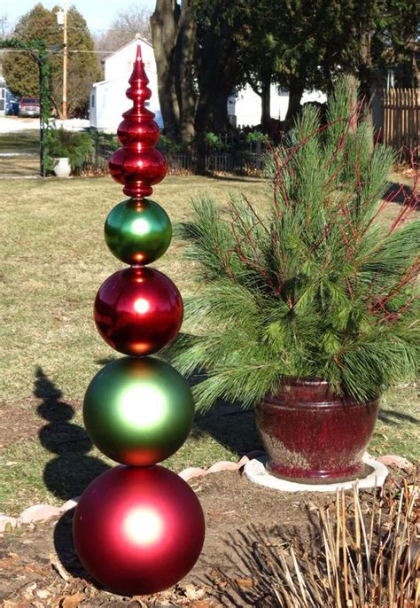a christmas yard decoration made from large plastic