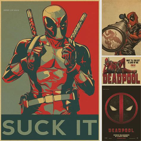 wall poster stickers aliexpress buy vintage poster marvel deadpool poster