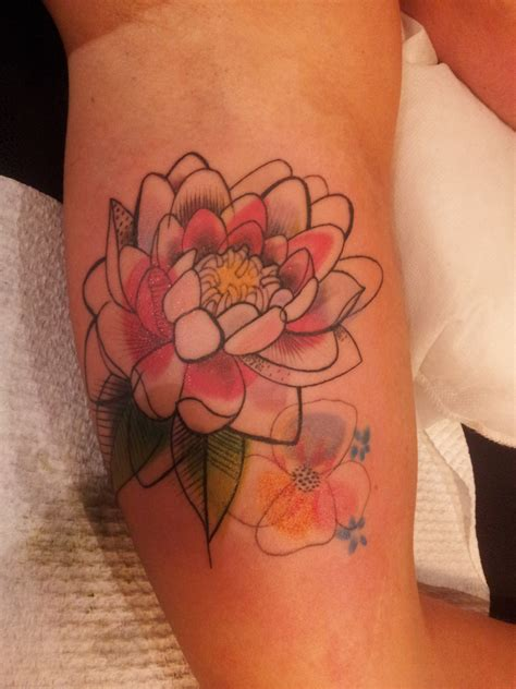 watercolor flower tattoo designs watercolor lotus best design ideas
