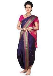 Saree Draping Types Nauvari Sarees 9 Yards Saree From Maharashtra Utsavpedia
