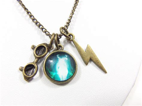 harry potter jewelry the boy who lived necklace geeky