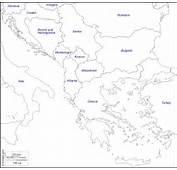 Penisola Balcanica  Mappa Gratuita Muta Cartina