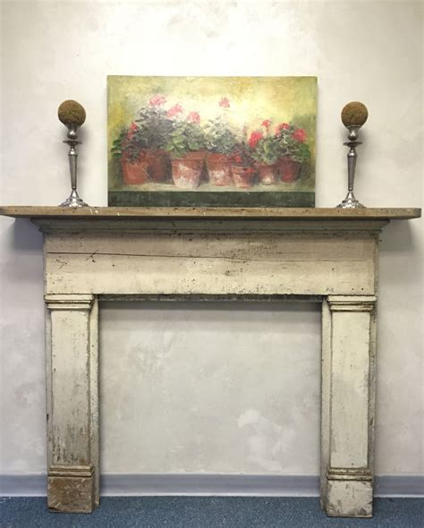 shabby chic fireplace surround mantel antique distressed