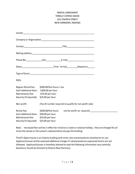 Simple Printable Lease Agreement
