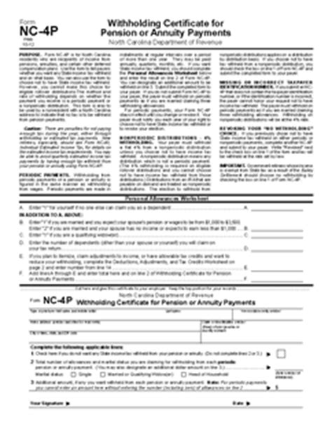 Nc 4 Allowance Worksheet by 100 Nc 4 Allowance Worksheet State Tax Withholding