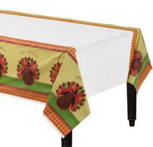 thanksgiving plastic table covers turkey dinner table cover 54in x 102in city