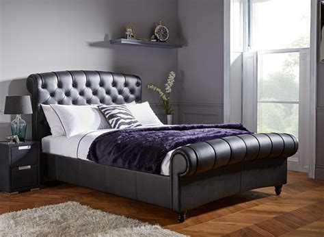 Dreams Beds Headboards by Ellis Black Split Leather Bed Frame Dreams