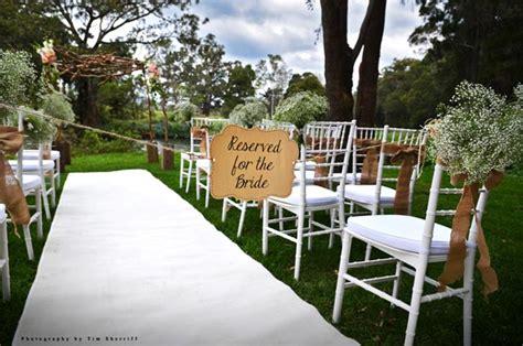 Wedding Aisle Garden by A Light Garden Wedding