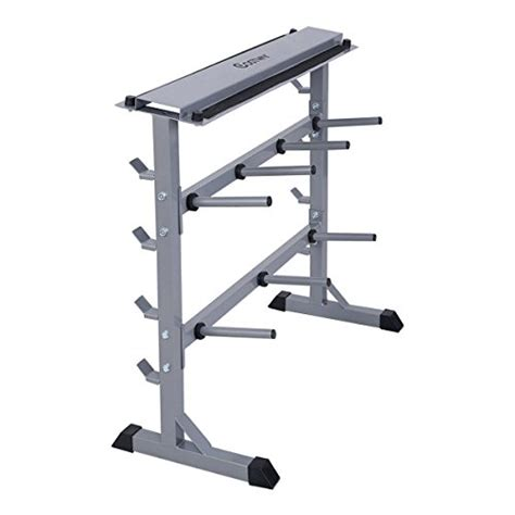 Weight Racks Home Gyms Giantex 2 Tier 40 Quot Barbell Dumbbell Rack Weights Storage