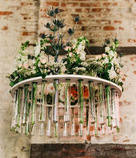 Wedding Centerpieces Glass Vases Creative Chandelier Made With Test Tubes Test Tubes