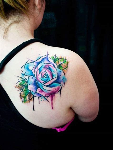 women rose tattoo shoulder tattoos for tattoofanblog